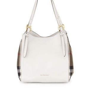 Burberry Canterbury Leather/Check Tote Bag NWT
